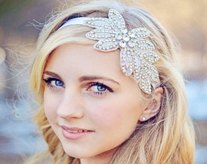 Peluca de diamantes de imitación diadema nupcial, diadema de diamantes de imitación, peluca novia, diadema de boda de cristal, fiesta diadema, apoyo de foto de boda