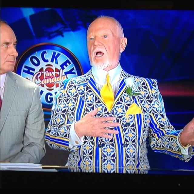 Don Cherry is the king of matching outfits with opinions.