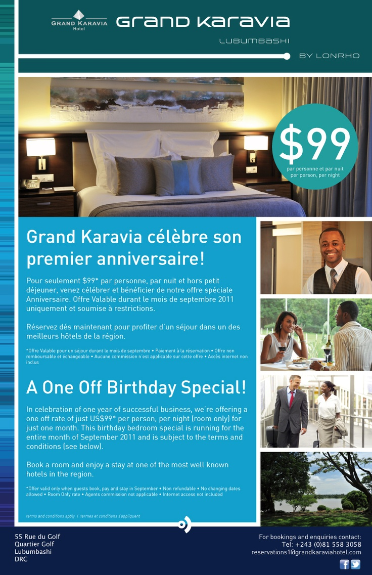 Grand Karavia Hotel - Birthday Ad