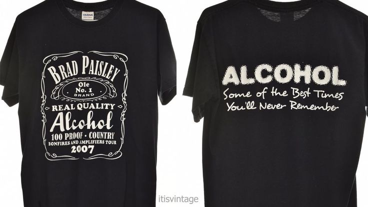 2007 Gildan Brad Paisley Jack Daniels Parody Alcohol Tour Dual Sided Shirt Small | Clothing, Shoes & Accessories, Women's Clothing, T-Shirts | eBay!