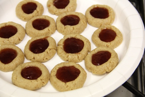 These healthy thumbprint cookies disappear faster than their full-fat counterparts!