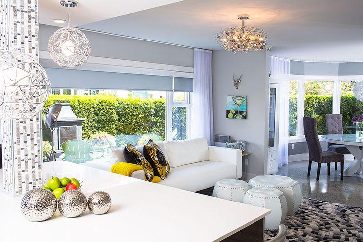 Island countertop in Milky White Vicostone. Interior Design by Ben Brannen of Bespoke Design Ltd. Photo by Derek Ford Photographer.