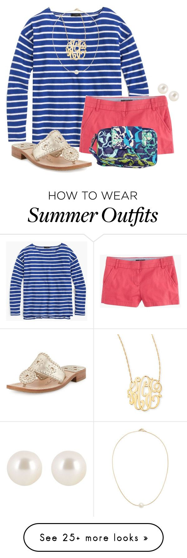 """Summer Outfit! ❤️"" by olivia73001 on Polyvore featuring J.Crew, Jack Rogers, Sole Society, Jennifer Zeuner, Vera Bradley and Henri Bendel"