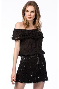 Pitti Kadın Siyah Bluz https://modasto.com/pitti/kadin-ust-giyim-gomlek-bluz/br7341ct4