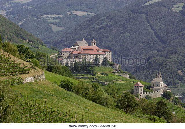 Klausen Italy | Monastery of Säben, Klausen, South Tyrol, Italy - Stock Image