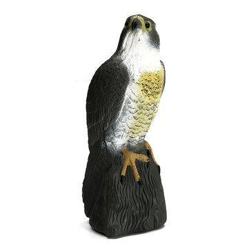Fake Falcon Hawk Decoy Bird Pigeon Deterrent Scarer Repeller Garden Lawn Decor Hallowmas Decoration