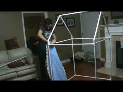 How to build an indoor playhouse or fort. So cool!