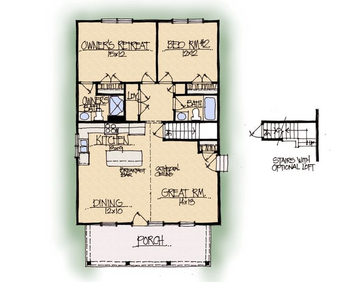 Morning Dove Home Plan   Earnhardt Collection™ Schumacher Homes. Has A Full  Length Loft Under Half Story Roof.