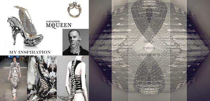 3D digital design,fashion art, Alexander McQueen