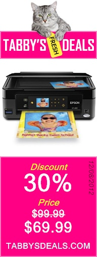 Epson Expression Home XP-400 Wireless All-in-One Color Inkjet Printer, Copier, Scanner.  Prints from Tablet/Smartphone. AirPrint Compatible (C11CC07201) $69.99