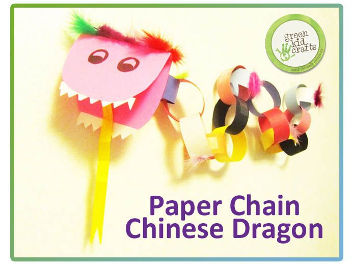 Celebrate the upcoming Chinese New Year (Jan, 31, 2014) with this fun Paper Chain Chinese Dragon activity. The dragon is one of the most well-known of the Chinese zodiac animals.