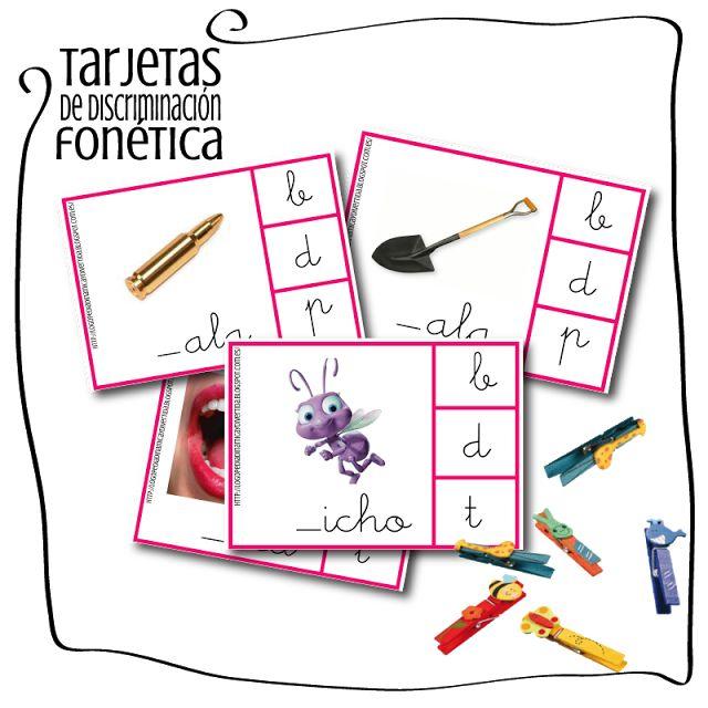 Logopedia dinámica y divertida : TARJETAS DE DISCRIMINACIÓN FONÉTICA