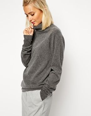 Enlarge ASOS WHITE Cashmere Roll Neck Sweater