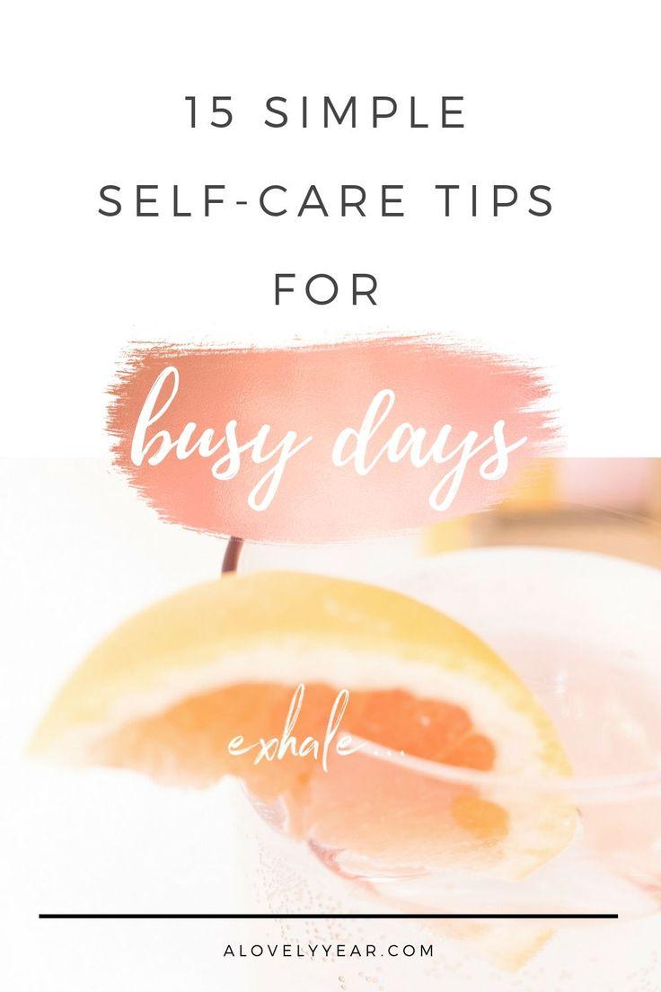 Sie haben keine Zeit zur Selbstversorgung? Hier sind 15 schnelle und einfache …   – self-love resources