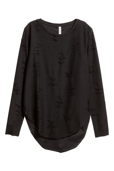 Top Trashed - Negro - MUJER | H&M ES