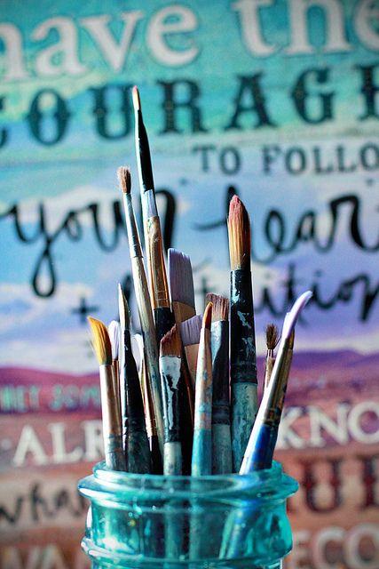 brushes by Mae Chevrette, via Flickr