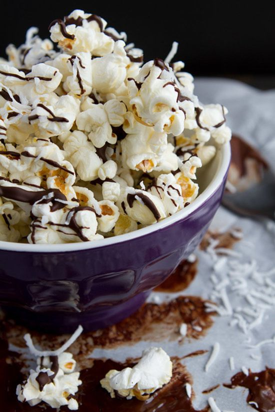 Chocolate-Coconut Popcorn