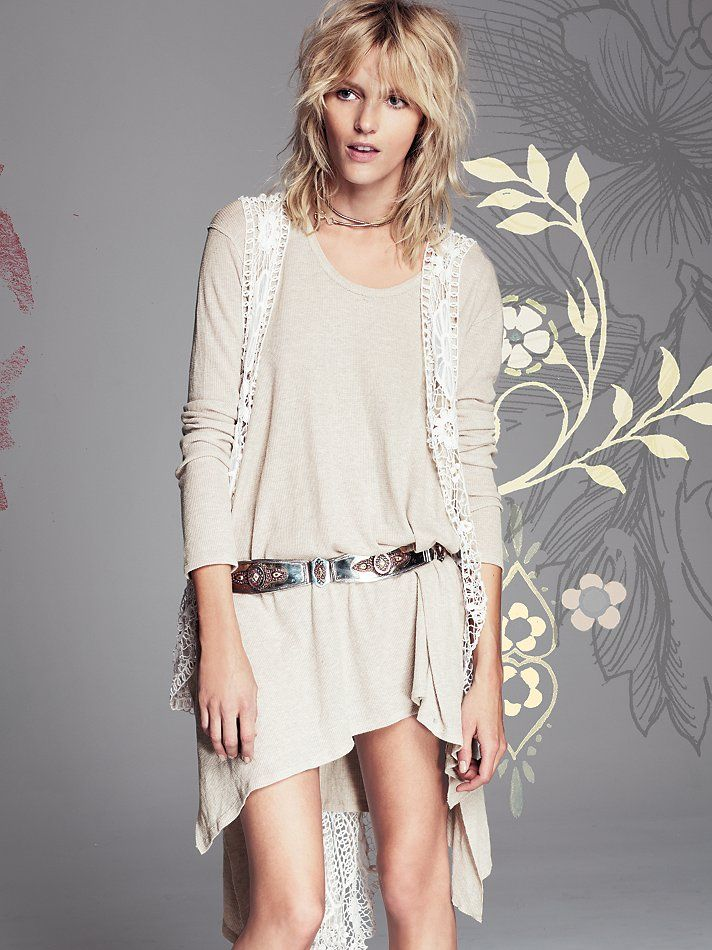 Free People Crochet Lengths Vest, C101.35