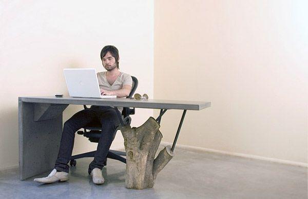 стол из бетона, мебель из бетона