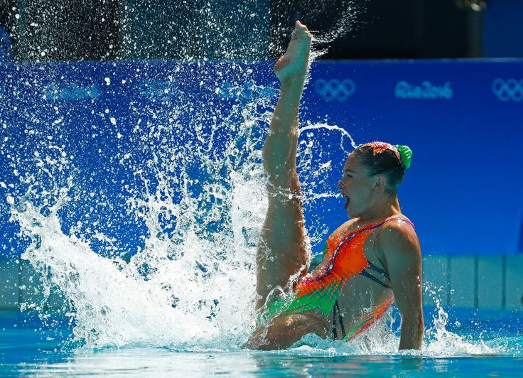 RIO DE JANEIRO, BRAZIL - AUGUST 14: Iryna Limanouskaya and Veronika Yesipovich of Belarus compete in the Women's Duets Synchronised Swimming Free Routine Preliminary Round on Day 9 of the Rio 2016 Olympic Games at Maria Lenk Aquatics Centre on August 14, 2016 in Rio de Janeiro, Brazil. (Photo by Clive Rose/Getty Images)