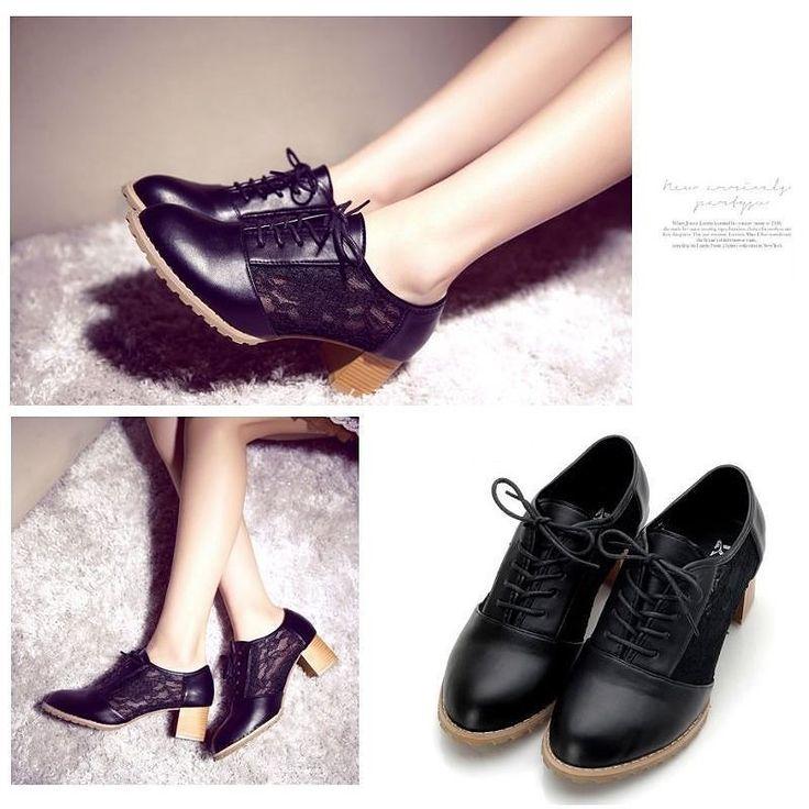 76z206 Black Oxford Material: Kulit PU  Lace Heels: 6cm  Berat: 700g  Ukuran: 35  Harga: Rp.236.000  #beautiful #fashion #instafashion #shoes #shopping #stylish #sepatumurah #girliafashionstore #sepatuimportmurah #sepatu #fashionaddict #grosirsepatumurah #sepatubatammurah #sepatubranded #sepatumurmer