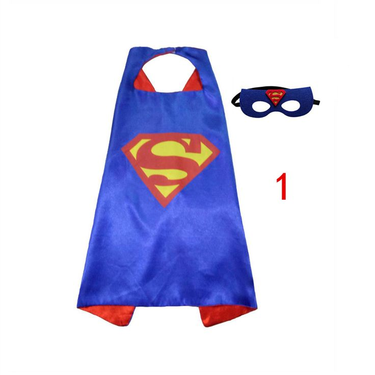 1ケープ+ 1マスクマント子供スーパーヒーローケープ男の子子供スーパーマンバットマンスパイダーマンベビー衣装コスプレ誕生日スーパーheroマスク