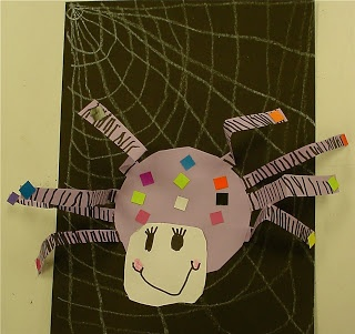 Silly Spiders - (Kindergarten)  Halloween or a Miss Muffet (Mother Goose) art project