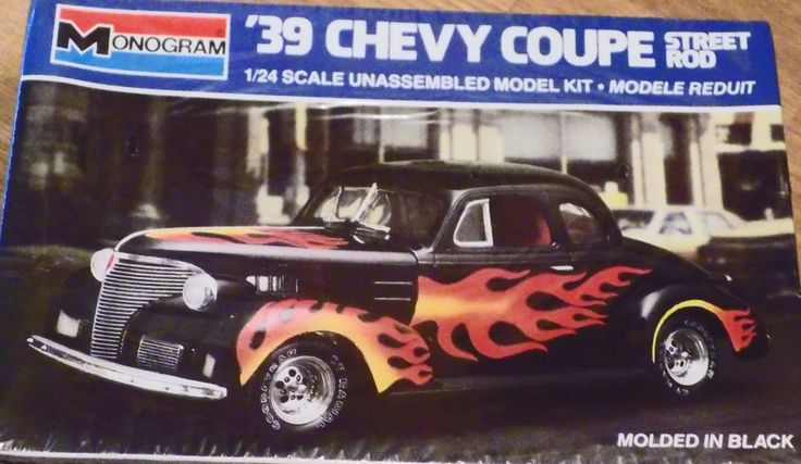 Complete, Sealed 1985 Monogram Model Kit of 1939 Chevy Coupe Street Rod Car 1/24 Scale by XtraThings on Etsy