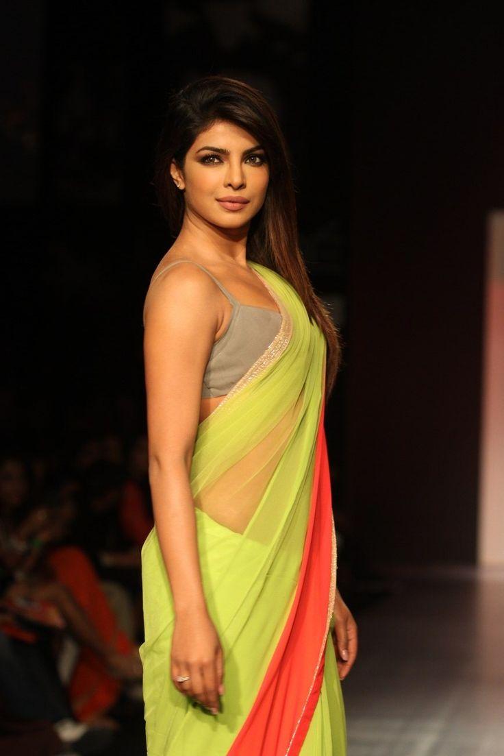 Priyanka Chopra Looks Gorgeous In Saree At The Lakme Fashion Week 2013 ★ Desipixer  ★