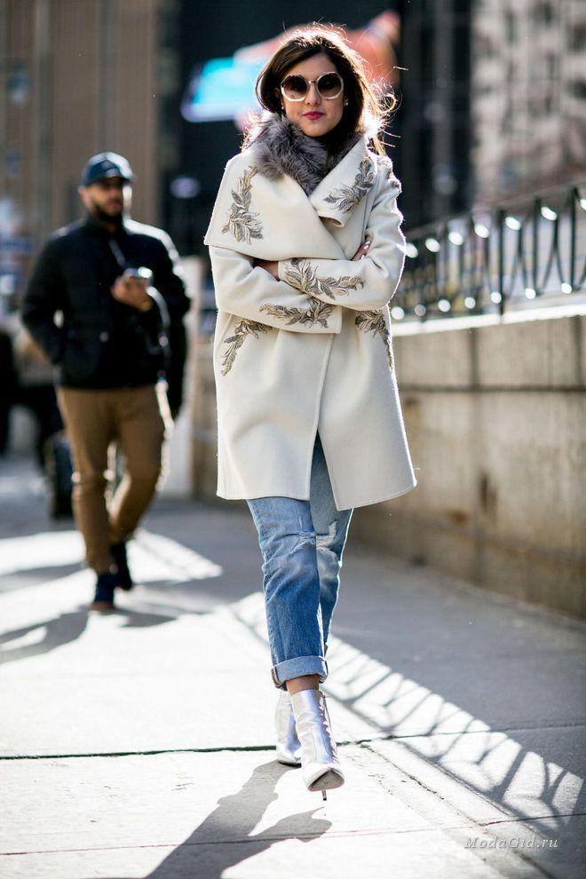 Уличная мода: Уличный стиль недели моды в Нью-Йорке сезона осень-зима 2016-2017