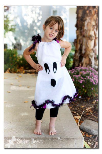 Dollar Store ghost pillowcase dress - $4 to make