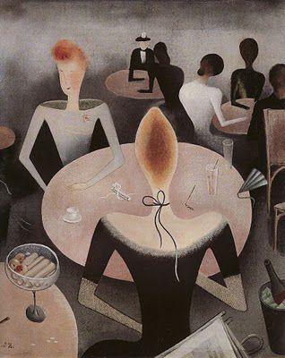 1923 Jan Zrzavy (Czech artist, 1890-1977) Kavarna