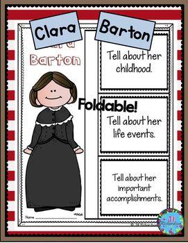 Clara Barton: Have your children research Clara Barton. Great also for Women's…