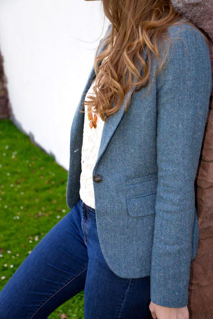 Perfect blazer for spring! Tall Herringbone Tweed Blazer