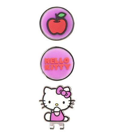 Another great find on #zulily! Hello Kitty Golf Hat Clip & Ball Marker Set Kisses by Hello Kitty #zulilyfinds