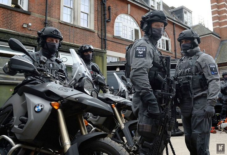 'Fighting terror' with motorcycles.   As of this week,armed police officers on two-wheels will be forming part of a 600 person strong, trained group of marksmen that will be deployed onto the streets of London. A fleet of BMW F800GS's will form the basis of the new troop of officers, who will be clad in Kevlar body armour and ...  See http://mofi.re/2b6aclL for more.  #BMW, #F800GS, #Police, #Weapons