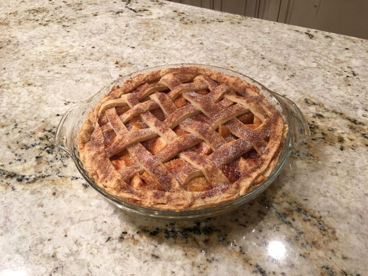 Best Apple Pie I've ever made  Made with Carmel Cinnamon Apples from Honey Baked Ham. Then made with a Betty Crocker crust, Sprinkled with cinnamon sugar & baked at 350 for about a hour~Absolutely the best ever!!!