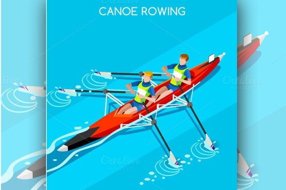 Canoe Rowing 2016 Summer Olympics. Business Infographic