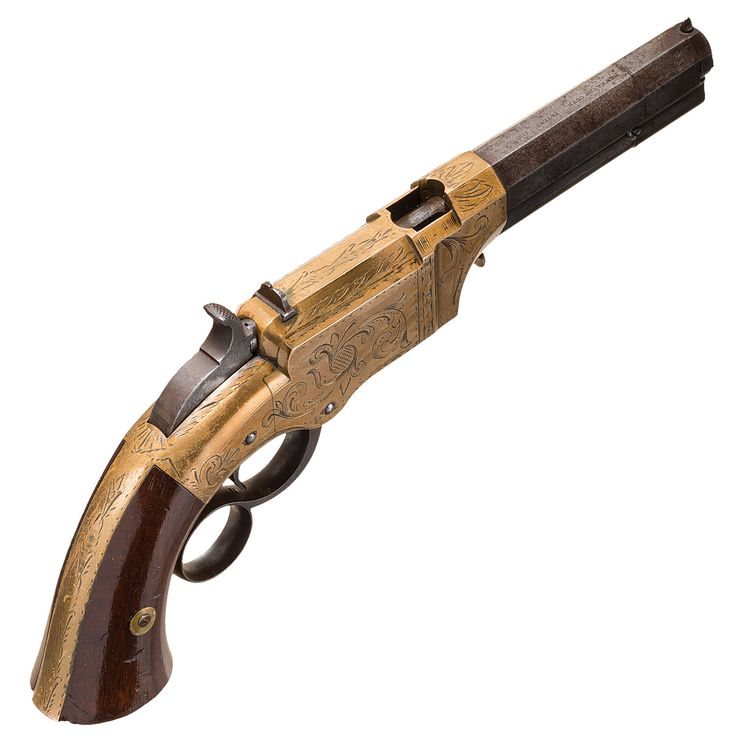 Factory Engraved New Haven Arms No. 1 Volcanic Lever Action Pocket Pistol with 3 1/2 Inch Barrel