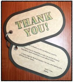 """Veterans Day activities: Awesome """"Dog tag thank you note"""" craftivity. What a cool idea to thank a real veteran. Includes a link to a complete list of a the Veterans' Retirement Homes in every state! Makes students' writing so much more meaningful."""
