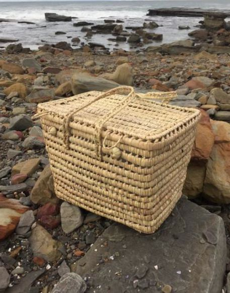 2eight3- Sustainable & Ethical Doum Doum Palm. Moroccan Handwoven Hamper. Available now at www.2eight3.com.au