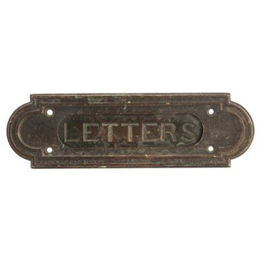Check out this item at One Kings Lane! Bronze Mail Slot