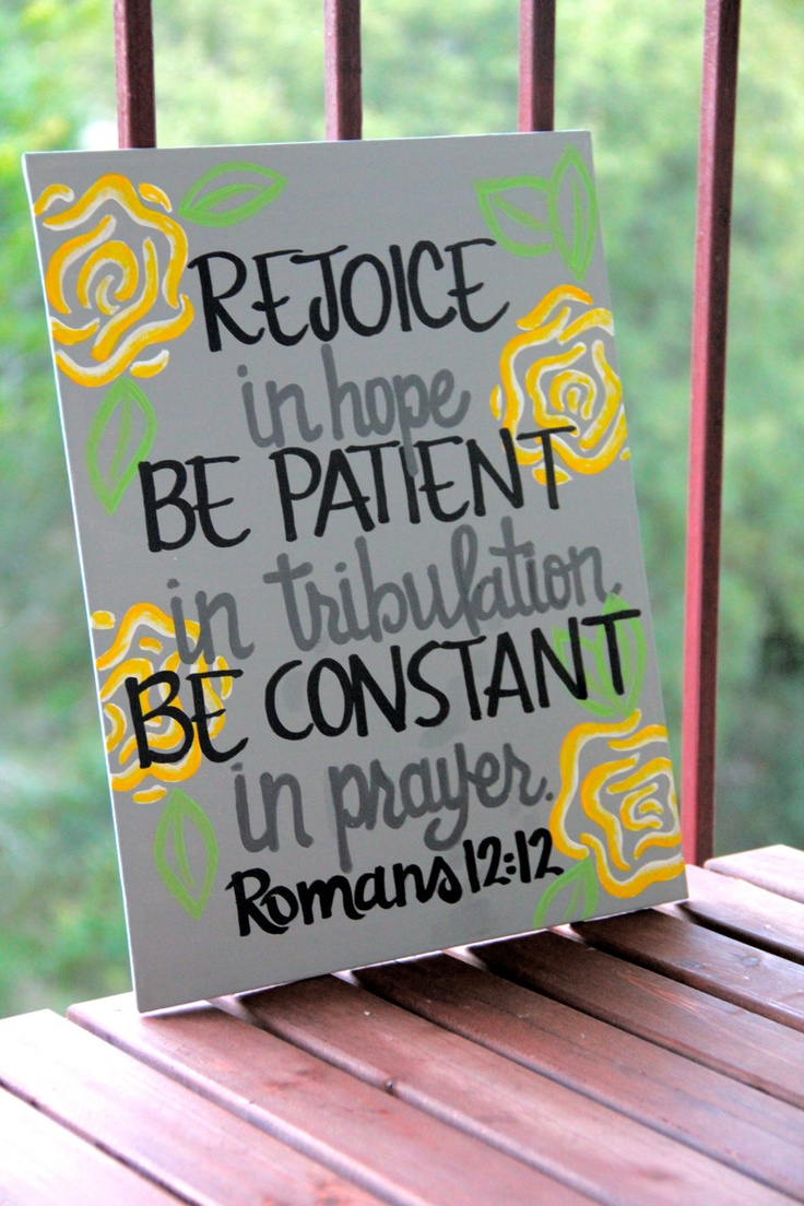 "Romans 12:12 Canvas Painting - 11""X14"""