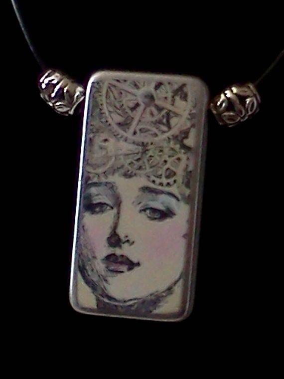 Domino Art Necklace