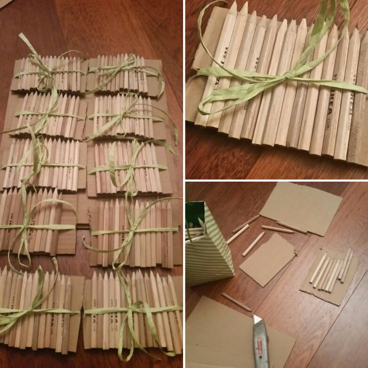 Pencil sets for playing babyshower games #creativecollaboration #greatminds #greatoutcomes  #rusticribbon