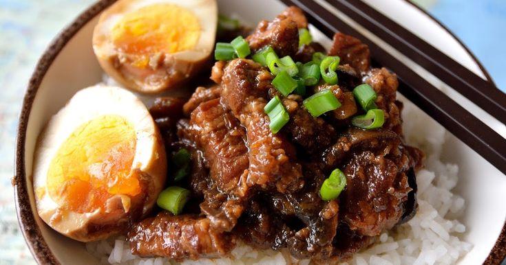 porc braisé,cuisine taïwanaise,cuisine asiatique,plat mijoté,ragoût,lu rou fan,Taïwan recipe,minced porc,ragoût,cinq parfums,cinq épices,,anis étoilé,badiane,oeuf dur,Marlyzen,Taiwanese Braised Pork Rice Bowl