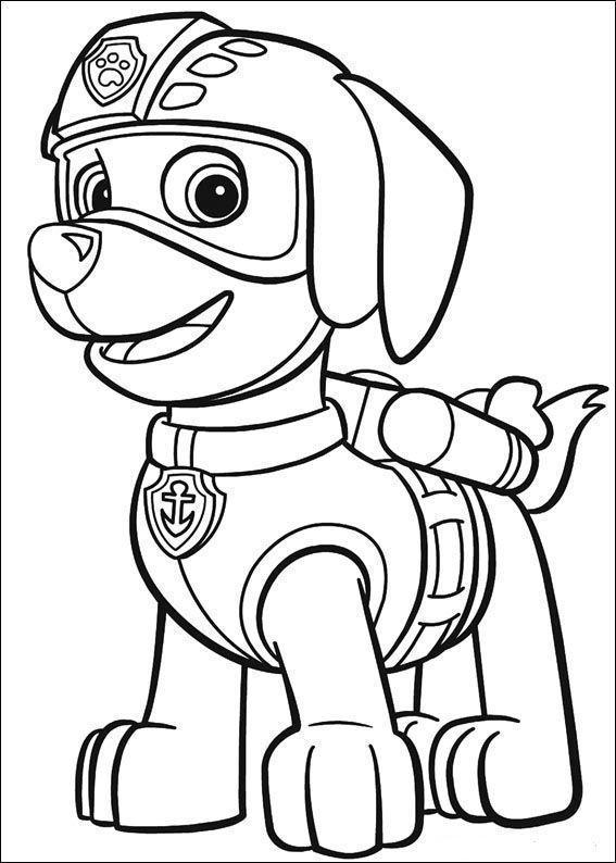 Patrulla Canina Para Colorear Marshall Tracker Paw Patrol