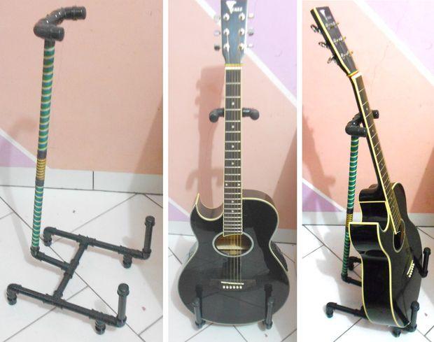 Suporte para violão - cano PVC / Guitar Stand - PVC pipes