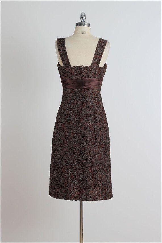Dessert Menu . vintage 1950s dress . vintage by millstreetvintage