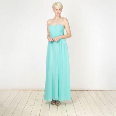 Debut Turquoise diamante buckled maxi dress- at Debenhams.com